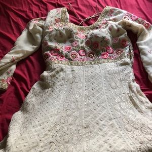 Other - Gown with pajami and embroidered border dupatta